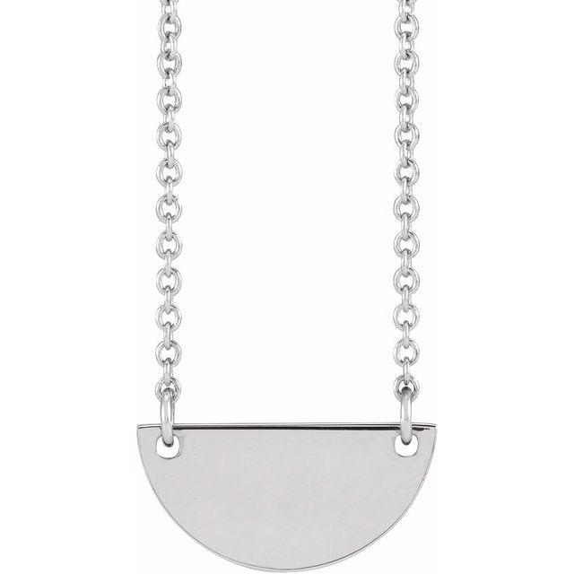 Sterling Silver Half Moon 16-18