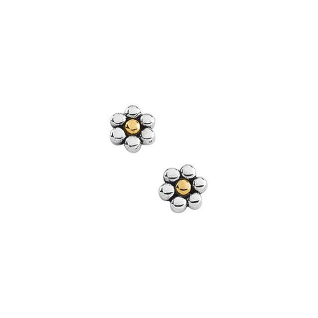 14K White/Yellow Metal Fashion Earring