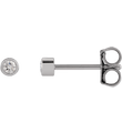 Diamond Micro Bezel-Set Earrings