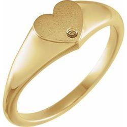 Pečatný Prsteň v tvare srdca