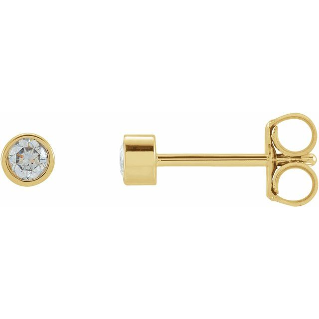 14K Yellow .0125 CTW Diamond Micro Stud Earrings