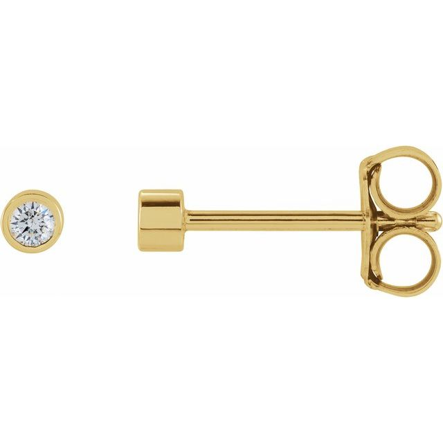 14K Yellow .04 CTW Diamond Micro Stud Earrings