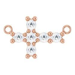 Sideways Cross Necklace or Center