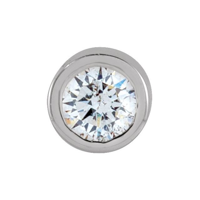 14K White .025 CT Diamond Micro Stud Single Earring