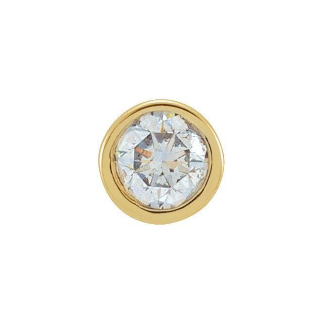 14K Yellow .06 CT Diamond Micro Stud Single Earring