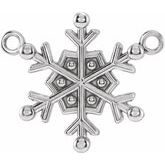 Petite Snowflake Necklace or Center