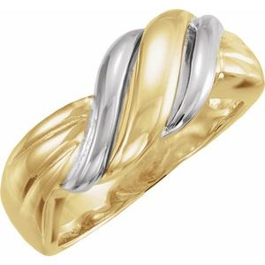 14K Yellow/White Freeform Ring