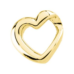 14K Yellow Heart Slide Pendant