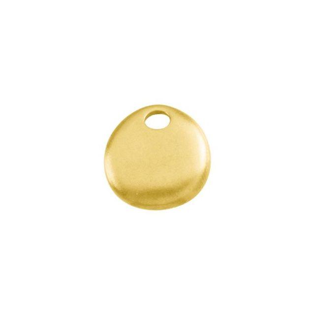 14K Yellow 15.5x16.75 mm Geometric Pendant