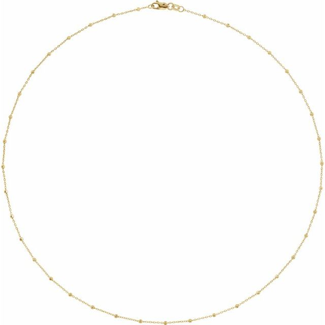 14K Yellow 1.7 mm Cable 18