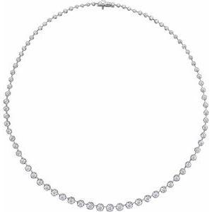 "14K White 6 3/4 CTW Lab-Grown Diamond Graduated 16"" Necklace"