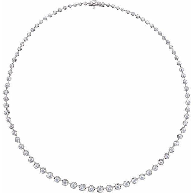 14K White 6 3/4 CTW Lab-Grown Diamond Graduated 16