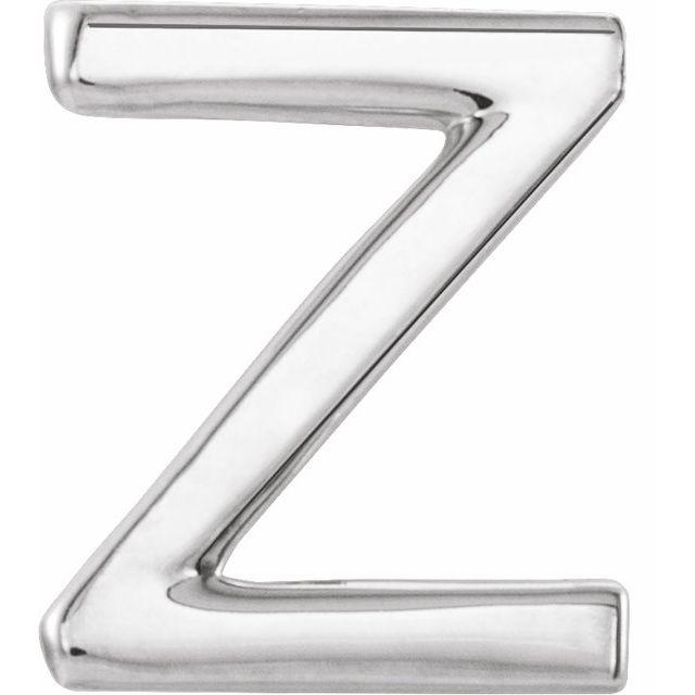 Sterling Silver Single Initial Z Earring