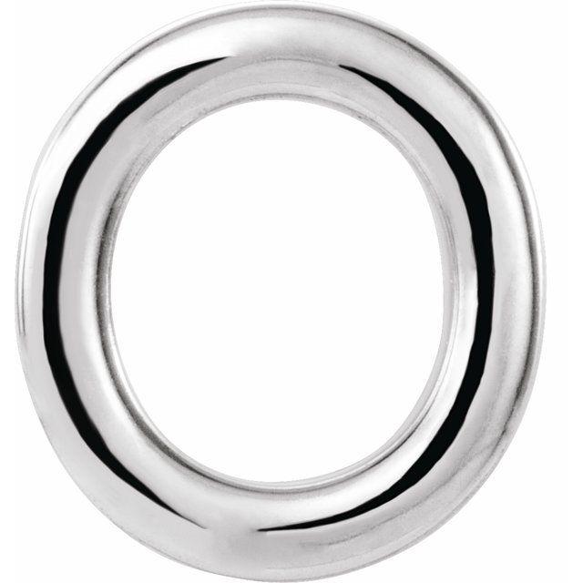 Sterling Silver Single Initial O Earring