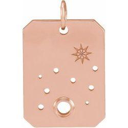 Zodiac Constellation Necklace or Pendant