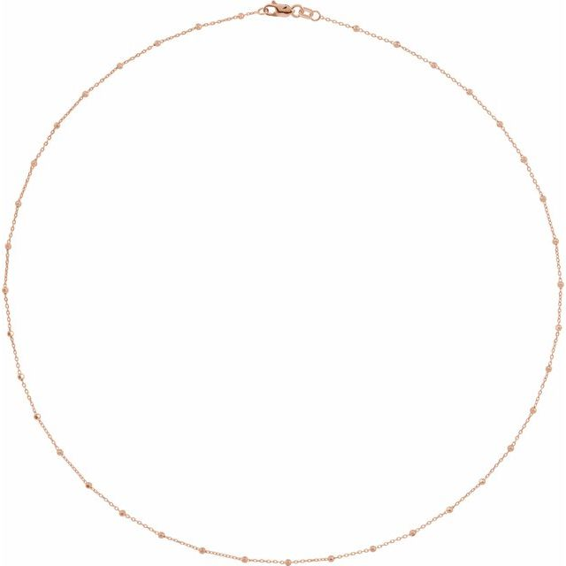 14K Rose 1.7 mm Cable 16