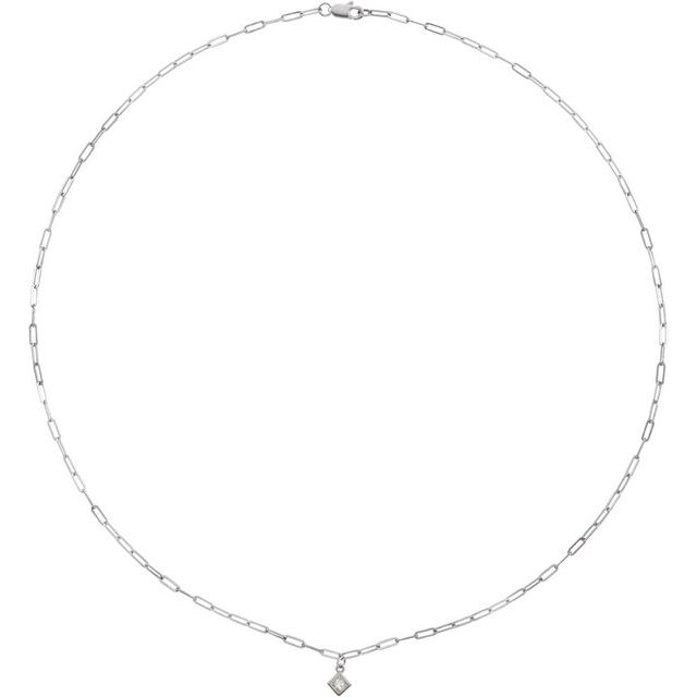 14K White 1/6 CT Diamond Micro Bezel-Set 18