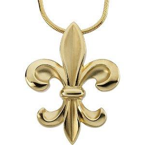 """14K Yellow Fleur-de-Lis 18"""" Necklace"""