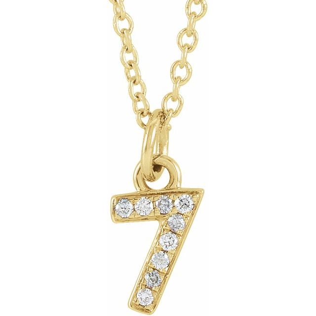 14K Yellow .03 CTW Diamond Numeral 7 16-18