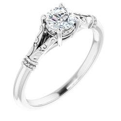 Solitaire Split Šinka / Šina Engagement Ring