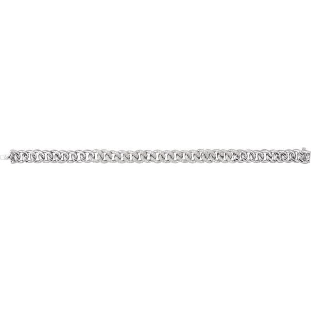14K White 3/4 CTW Natural Diamond Curb 7