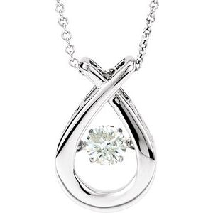 "14K White 3/8 CT Diamond Mystara® 18"" Necklace"