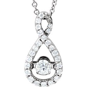 "14K White 1/3 CTW Diamond Mystara® 18"" Necklace"