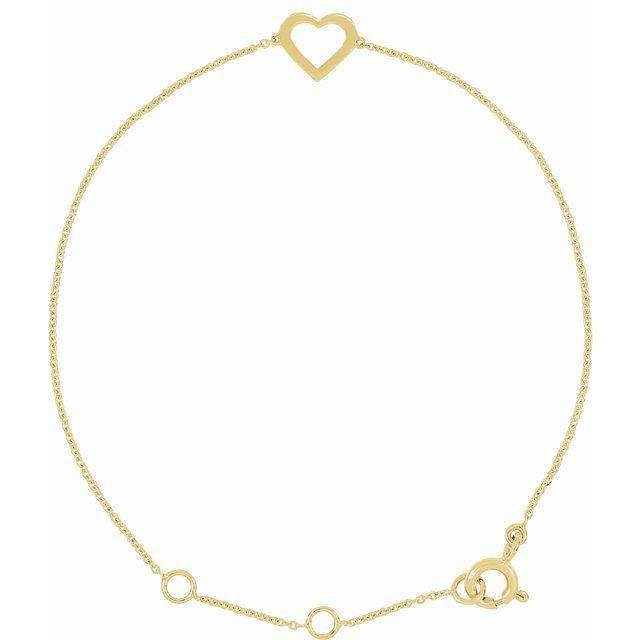 14K Yellow Heart Design 7