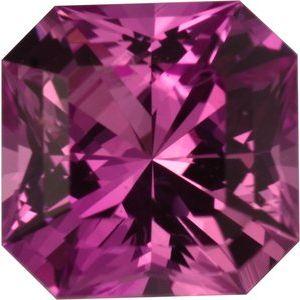 Sapphire Asscher 0.64 carat Pink Photo