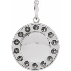Engravable Halo-Style Necklace or Pendant