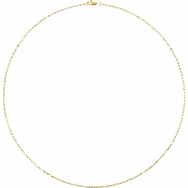 14K Yellow Gold Filled 1.5 mm Solid Cable 16
