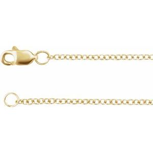 "14K Yellow Gold Filled 1.5 mm Solid Cable 16"" Chain"