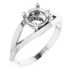 Split Shank Solitaire Ring