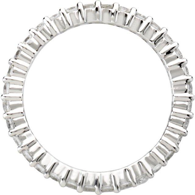 14K White 1 CTW Diamond Eternity Band Size 6