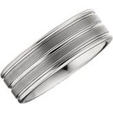 Grooved Satin & Polished Band