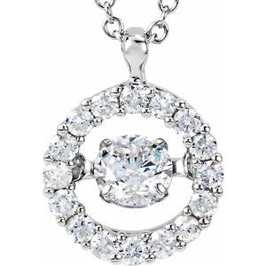 "14K White 1/2 CTW Diamond Mystara® 18"" Necklace"