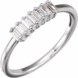 14K Rose 1/3 CTW Lab-Grown Diamond Ring