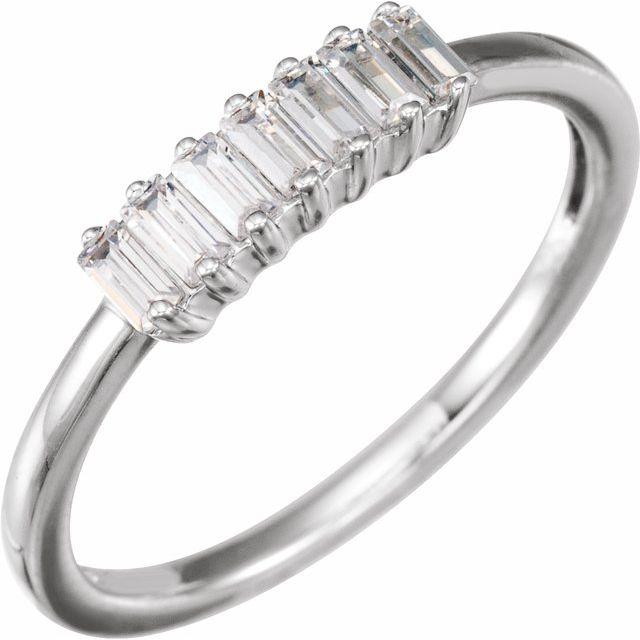 14K White 1/3 CTW Lab-Grown Diamond Ring