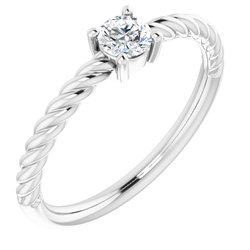 Solitaire Rope Ring
