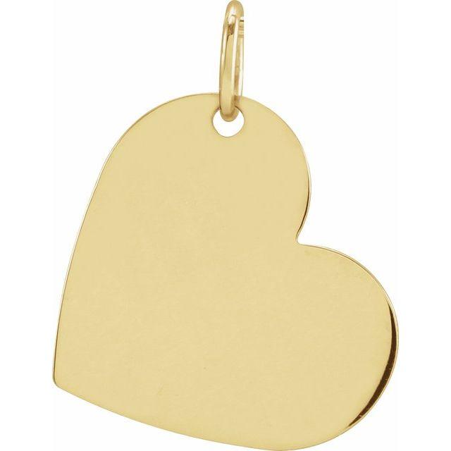 14K Yellow 16x14 mm Heart Pendant