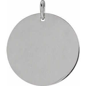 Sterling Silver 19 mm Round Disc Pendant