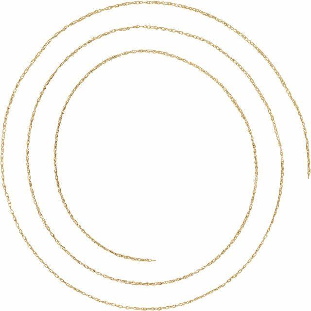 14K Yellow .75 mm Rope Per Inch Chain