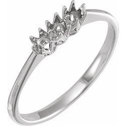 3-Stone Anniversary Ring Mounting