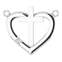 Heart & Cross Necklace or Center
