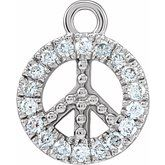 Petite Pave Peace Dangle