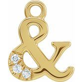 Petite Pave Ampersand Dangle