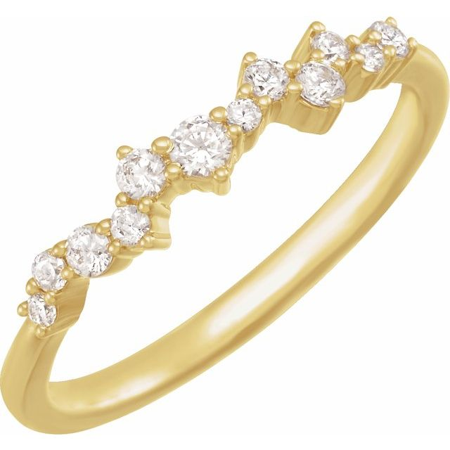 14K Yellow 1/4 CTW Lab-Grown Diamond Scattered Stackable Ring