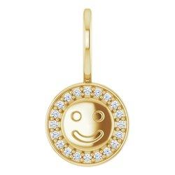 Smiley Face Charm Pendant