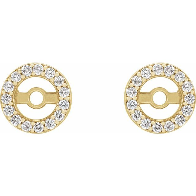 14K Yellow .08 CTW Diamond Earring Jackets with 3.6 mm ID