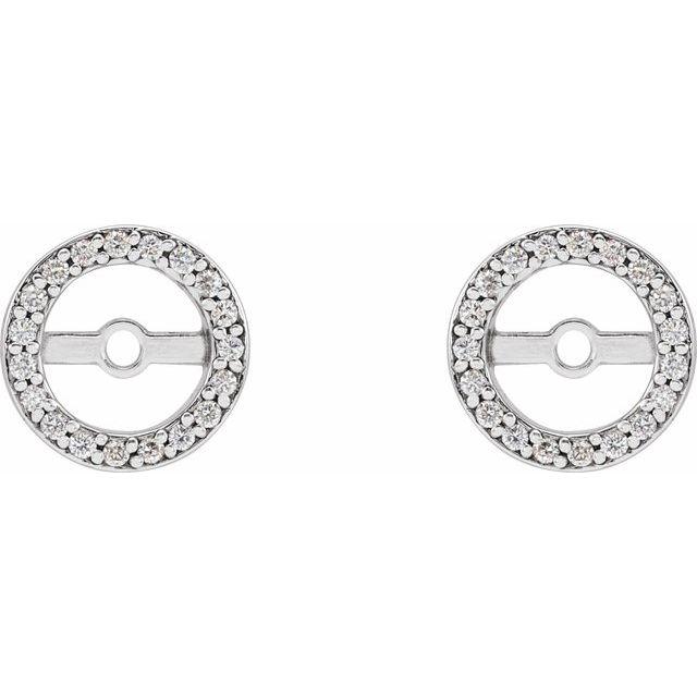 Platinum .08 CTW Diamond Earring Jackets with 5.3 mm ID